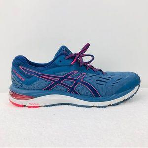 Asics Gel Cumulus 20 Blue Neon Pink Running Shoes